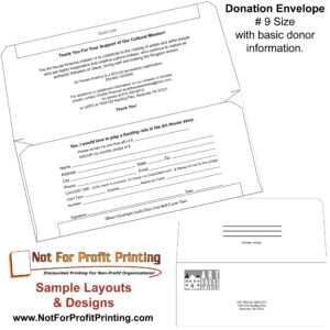 Sample Layouts & Designs For Donation Envelopes And inside Donation Cards Template
