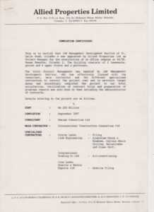 Sample Of Certificate Of Completion Of Construction Project for Practical Completion Certificate Template Uk