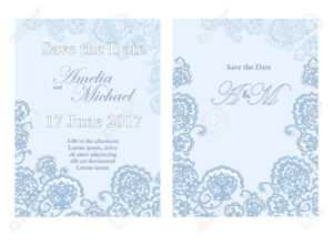 Save The Date Card Template In Light Blue Colors. for Save The Date Cards Templates