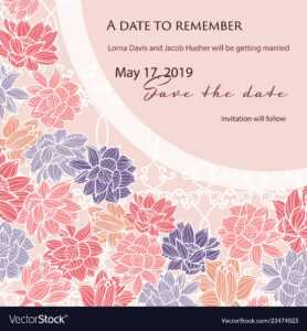 Save The Date Wedding Card Template With Modern for Save The Date Cards Templates