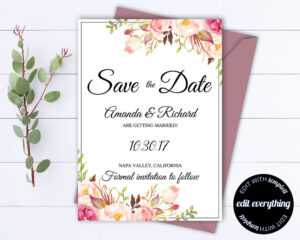 Save The Date Wedding Invitations Templates ~ Wedding regarding Save The Date Cards Templates