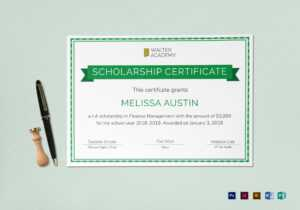 Scholarship Certificate Template pertaining to Indesign Certificate Template
