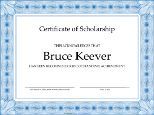 Scholarship Certificate Template Word And Eps Format within Scholarship Certificate Template