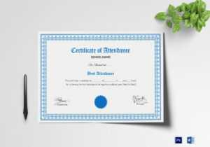 School Attendance Certificate Template in Certificate Templates For School