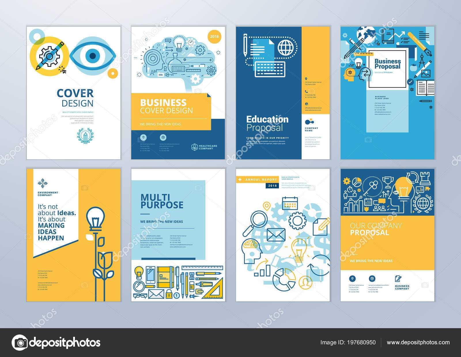School Brochure Designs | Set Brochure Design Templates With Regard To School Brochure Design Templates
