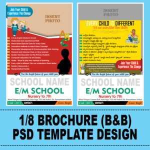 School Brochure Psd Template – Naveengfx in Play School Brochure Templates