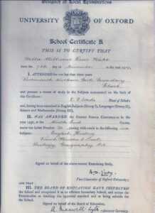 School Certificate (United Kingdom) – Wikipedia in School Leaving Certificate Template