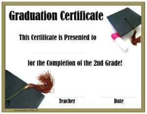 School Graduation Certificates | Customize Online With Or for Free Printable Graduation Certificate Templates