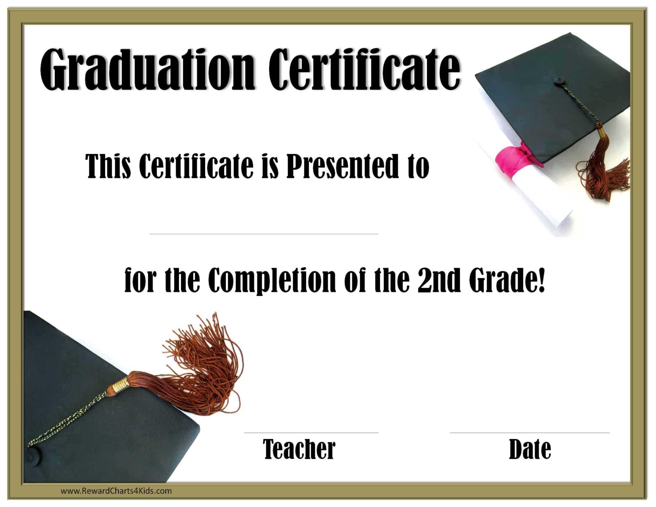 School Graduation Certificates | Customize Online With Or Inside 5Th Grade Graduation Certificate Template