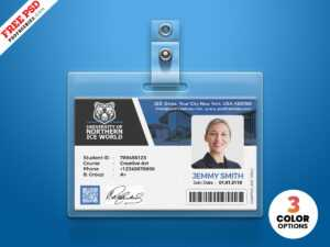 School Id Template Free Download – Oflu.bntl intended for Free Id Card Template Word