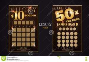 Scratch Lottery Ticket Vector Design Template Stock Vector for Scratch Off Card Templates
