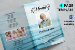 Sea Beach Funeral Program Template in Memorial Brochure Template