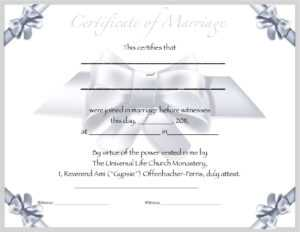 Seal Certified Editable Marriage Certificate Template Throughout Certificate Of Marriage Template