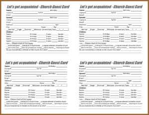 Search And Rescue Ministry – Forms pertaining to Church Visitor Card Template