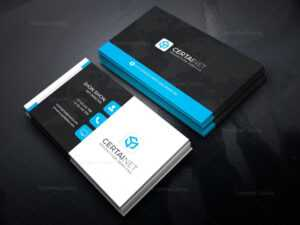 Security Company Corporate Business Card Template 000925 with Company Business Cards Templates