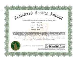 Service Dog Certification Papers – Goldenacresdogs inside Service Dog Certificate Template