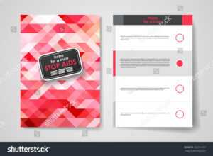 Set Brochure Poster Templates World Aids Stock Image in Hiv Aids Brochure Templates