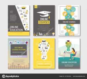 Set Flyers Posters Banners Brochure Design Templates with E Brochure Design Templates