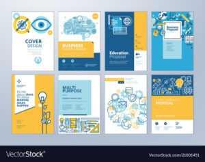 Set Of Brochure Design Templates Of Education for Brochure Design Templates For Education