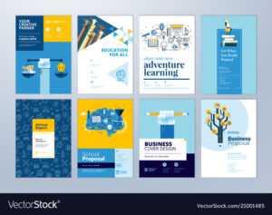 Set Of Brochure Design Templates Of Education intended for Brochure Design Templates For Education