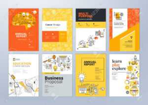 Set Of Brochure Design Templates On The Subject Of Education,.. with Online Free Brochure Design Templates