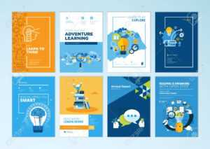 Set Of Brochure Design Templates On The Subject Of Education,.. with regard to Online Free Brochure Design Templates