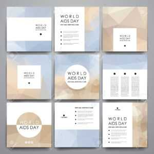 Set Of Brochure, Poster Templates In World Aids Day Style. Beautiful.. with Hiv Aids Brochure Templates