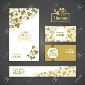 Set Of Business Cards. Templates For Wine Company inside Company Business Cards Templates