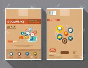 Set Of E-Commerce Magazine Cover , Flyer, Brochure Flat Design.. regarding E Brochure Design Templates