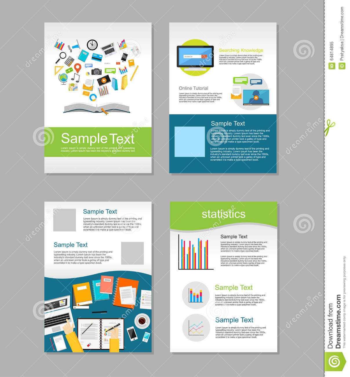Set Of Flyer. Brochure Design Templates. Education Inside E Brochure Design Templates
