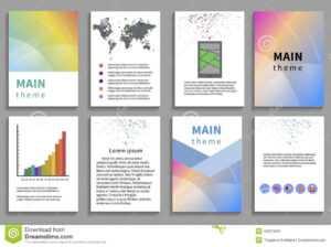 Set Of Flyer, Brochure Design Templates Stock Vector throughout Online Free Brochure Design Templates