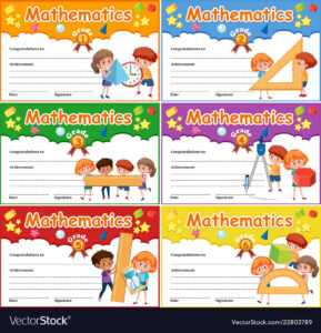 Set Of Mathematics Certificate intended for Math Certificate Template