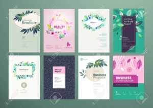 Set Of Natural Product Brochure, Annual Report, Flyer Design.. in Product Brochure Template Free