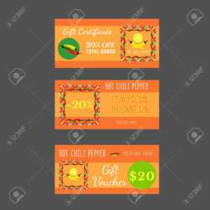 Set Of Templates For Mexican Restaurant. Gift Certificate, Discount.. pertaining to Restaurant Gift Certificate Template