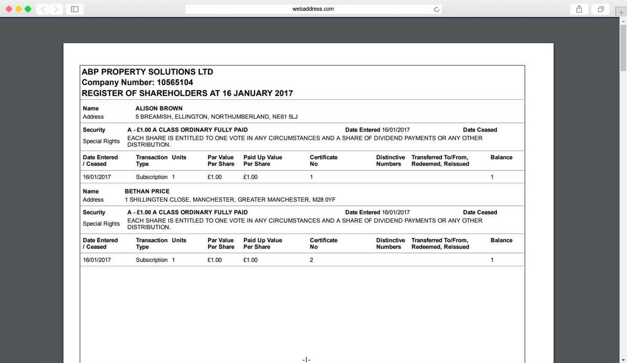 Share Certificates | Thecompanywarehouse.co.uk Intended For Share Certificate Template Companies House