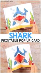 Shark Pop Up Card – Easy Peasy And Fun with Free Printable Pop Up Card Templates