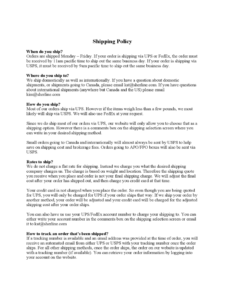 Shipping Policy Template – 3 Free Templates In Pdf, Word with Company Credit Card Policy Template