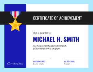Simple Certificate Of Achievement Template in Sales Certificate Template