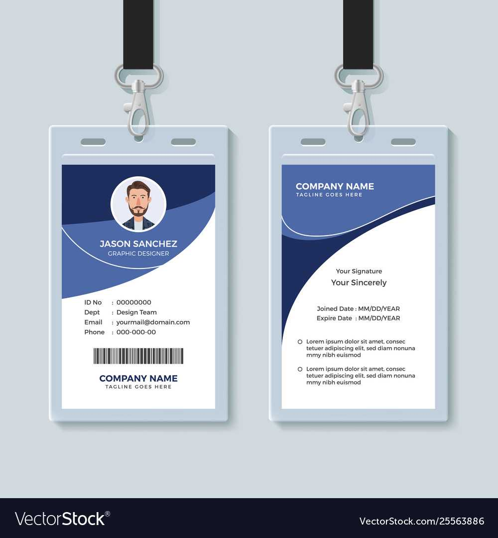Simple Corporate Id Card Design Template Intended For Company Id Card Design Template