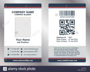 Simple Employee Business Name Card Template Vector Stock with Pvc Card Template