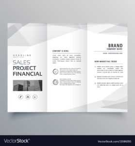 Simple Trifold Brochure Template Design With throughout One Page Brochure Template
