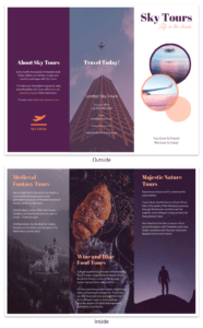 Simple Vacation Travel Tri Fold Brochure Template throughout Island Brochure Template