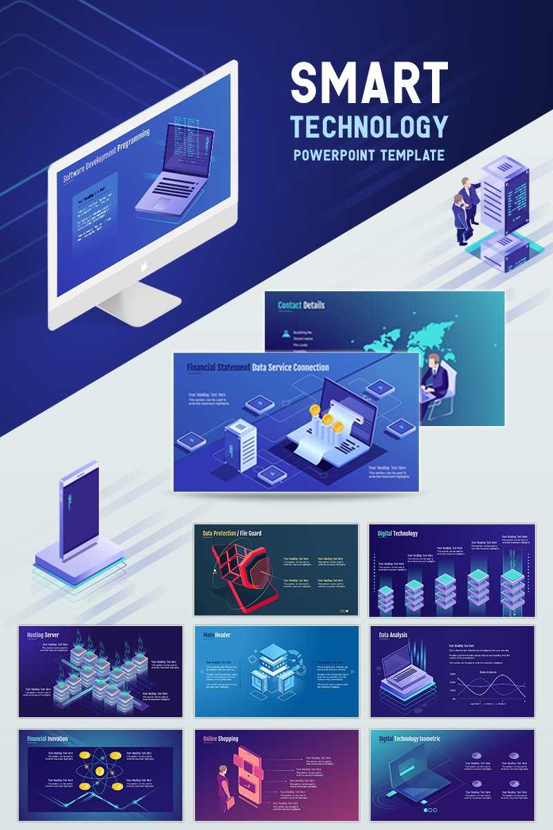 Smart Technology Powerpoint Template Throughout Powerpoint Templates For Technology Presentations