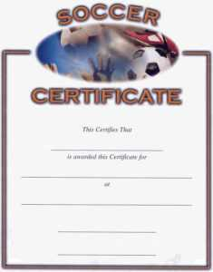 Soccer Award Certificates | Activity Shelter regarding Track And Field Certificate Templates Free
