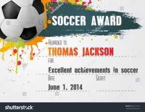 Soccer Certificate Template Football Ball Icon Stock Vector intended for Soccer Certificate Template