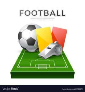 Soccer Football Poster 3D Whistle Ball Card in Soccer Referee Game Card Template