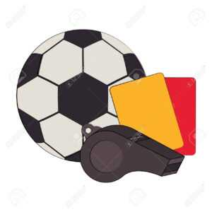 Soccer Football Sport Game Ball And Referee Cards With Whistle.. with regard to Football Referee Game Card Template