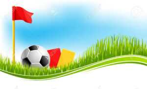 Soccer Or Football Game Background Design Template For Fan Club.. with Soccer Referee Game Card Template