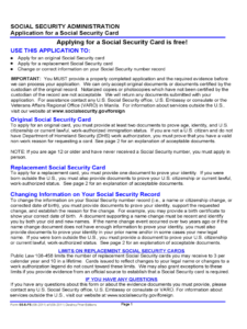 Social Security Application Form – 5 Free Templates In Pdf with regard to Social Security Card Template Pdf