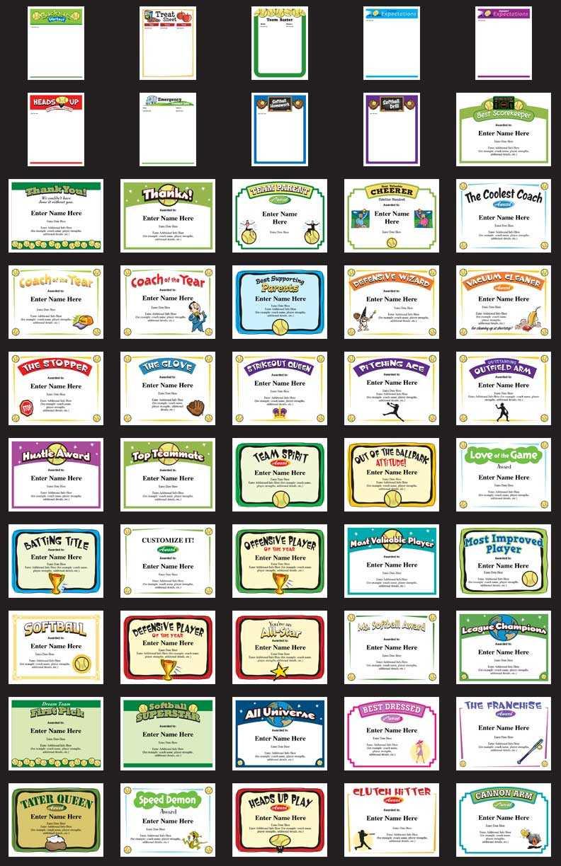 Softball Certificates - Free Award Certificates Regarding Free Softball Certificate Templates